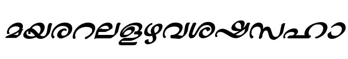 ML-TTJaya BoldItalic Font LOWERCASE