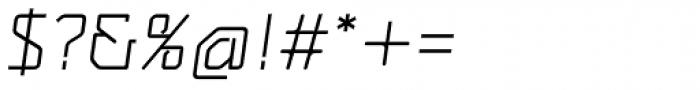 MM Agrafa Light Italic Font OTHER CHARS