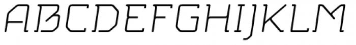 MM Agrafa Light Italic Font UPPERCASE