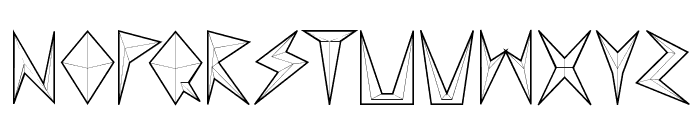 MND Pinballer empty Font LOWERCASE