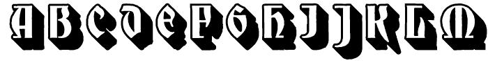 Mnster Gotisch Extruded Font UPPERCASE