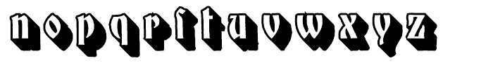 Mnster Gotisch Extruded Font LOWERCASE