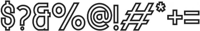 MODULAR Outline 11 otf (400) Font OTHER CHARS