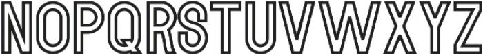MODULAR Outline 11 otf (400) Font UPPERCASE