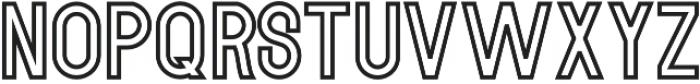 MODULAR Outline 11 otf (400) Font LOWERCASE