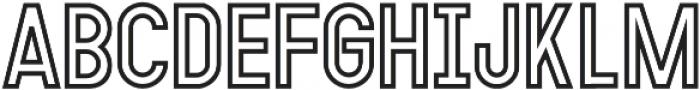 MODULAR Outline 14 otf (400) Font LOWERCASE