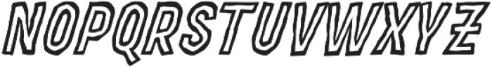 MOVSKATE Ply Italic otf (400) Font UPPERCASE