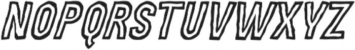 MOVSKATE Ply Italic otf (400) Font LOWERCASE