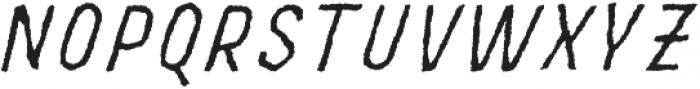 MOVSKATE Slide Italic otf (400) Font UPPERCASE
