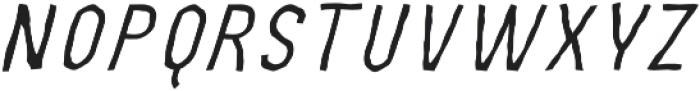MOVSKATE Wallride Italic otf (400) Font LOWERCASE
