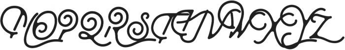 Moabhoers Script otf (400) Font UPPERCASE
