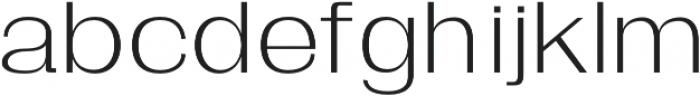 Moccha-SansSerif regular otf (400) Font LOWERCASE