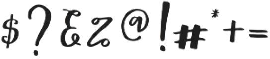 Mochigan Regular otf (400) Font OTHER CHARS