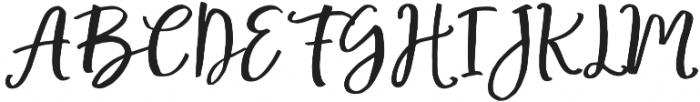 Mochigan Regular otf (400) Font UPPERCASE