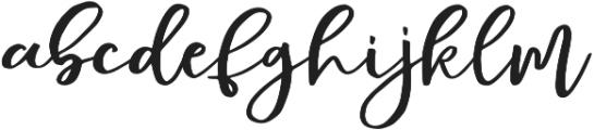 Mochigan Regular otf (400) Font LOWERCASE