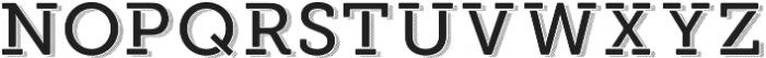 Modern Outdoor otf (400) Font LOWERCASE