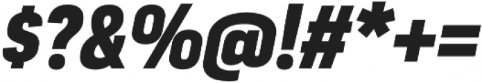 Moderna Sans Black Cnd It otf (900) Font OTHER CHARS