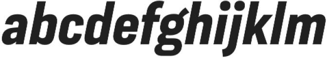 Moderna Sans Bold Cnd It otf (700) Font LOWERCASE