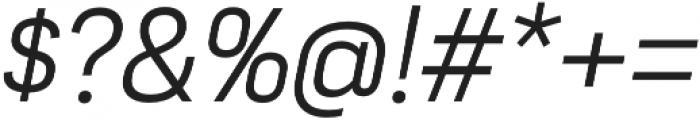 Moderna Sans Light It otf (300) Font OTHER CHARS