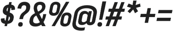 Moderna Sans Medium Cnd It otf (500) Font OTHER CHARS