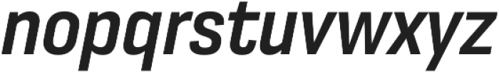 Moderna Sans Medium Cnd It otf (500) Font LOWERCASE