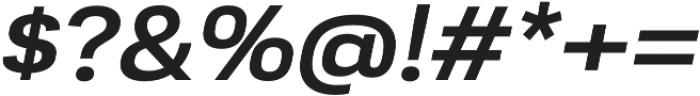 Moderna Sans Medium Ext It otf (500) Font OTHER CHARS