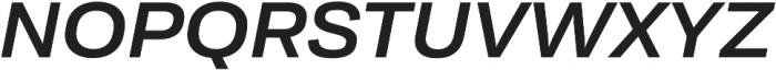Moderna Sans Medium Ext It otf (500) Font UPPERCASE