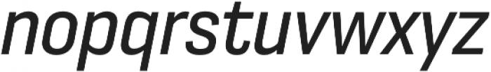 Moderna Sans Regular Cnd It otf (400) Font LOWERCASE