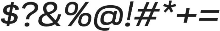 Moderna Sans Regular Ext It otf (400) Font OTHER CHARS