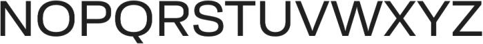 Moderna Sans Regular Ext otf (400) Font UPPERCASE