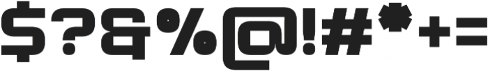 Modernhead Black otf (900) Font OTHER CHARS