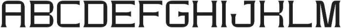 Modernhead Serife Regular otf (400) Font UPPERCASE