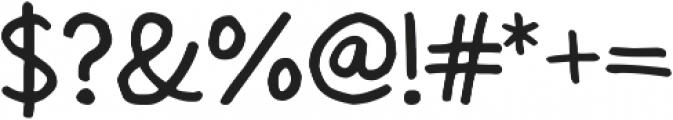 Modest Felt otf (400) Font OTHER CHARS