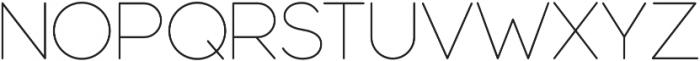 Modulus Pro Extra Light otf (200) Font UPPERCASE