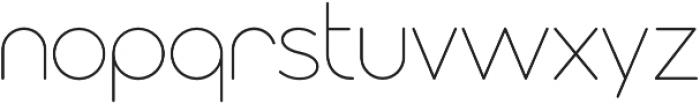 Modulus Pro Extra Light otf (200) Font LOWERCASE