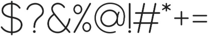 Modulus Pro Light otf (300) Font OTHER CHARS