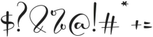 Modylove otf (400) Font OTHER CHARS