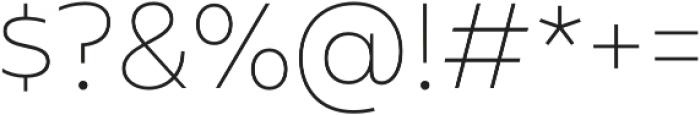 Mohr Alt Thin otf (100) Font OTHER CHARS