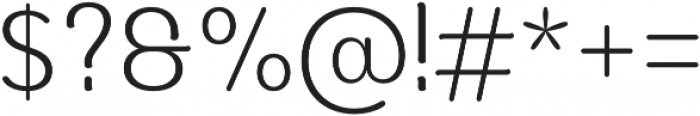 Moku Brush Light otf (300) Font OTHER CHARS