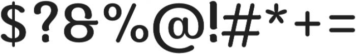 Moku Brush Medium otf (500) Font OTHER CHARS