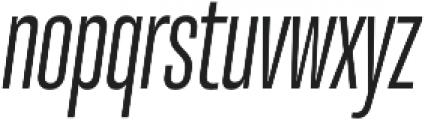 Molde Compressed-Medium Italic otf (500) Font LOWERCASE