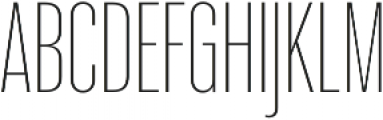 Molde Compressed-UltraLight otf (300) Font UPPERCASE