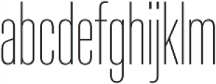 Molde Compressed-UltraLight otf (300) Font LOWERCASE