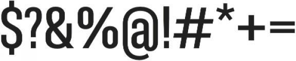 Molde Condensed-Semibold otf (600) Font OTHER CHARS