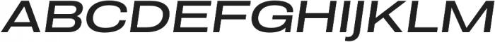 Molde Expanded-Medium Italic otf (500) Font UPPERCASE