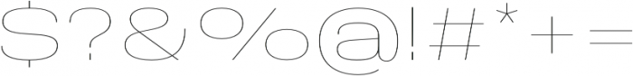 Molde Expanded-Thin otf (100) Font OTHER CHARS