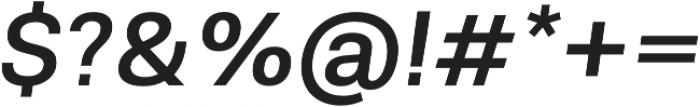 Molde Medium Italic otf (500) Font OTHER CHARS