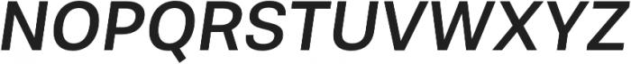 Molde Medium Italic otf (500) Font UPPERCASE