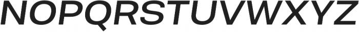 Molde SemiExpanded-Medium Italic otf (500) Font UPPERCASE