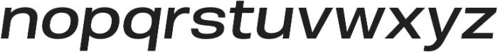 Molde SemiExpanded-Medium Italic otf (500) Font LOWERCASE